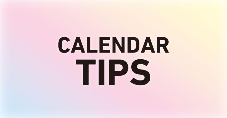 カレンダーの作り方2選