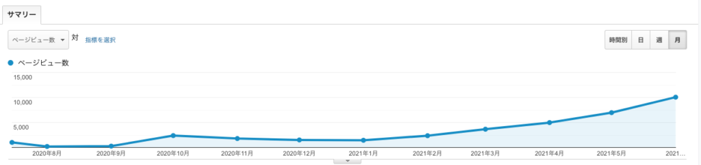 一年間のPV数